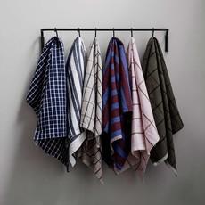 Ferm Living Hale Yarn Dyed Linen Tea Towels - Green/Black