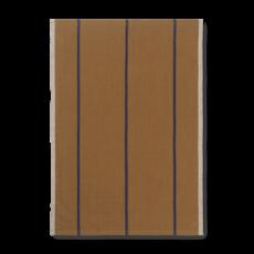 Ferm Living Hale Tea Towel - Mustard/Navy