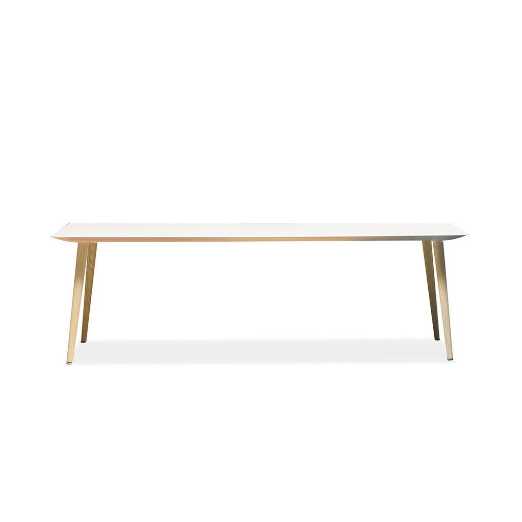 Pedrali Table BABILA, 2000X900X740H mm, bleached ashwood legs, white compact fullcolour top - SHOWROOM MODEL