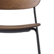MENU Co Chair Dining Chair, Dark Stained Oak/Black Steel Base