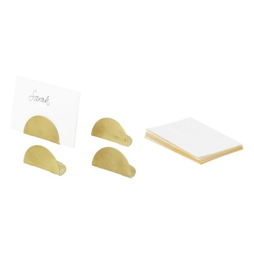 Ferm Living Card Holders - Set of 4 - Brass