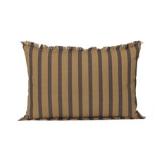 Ferm Living True Cushion - Sugar / Kelp Black