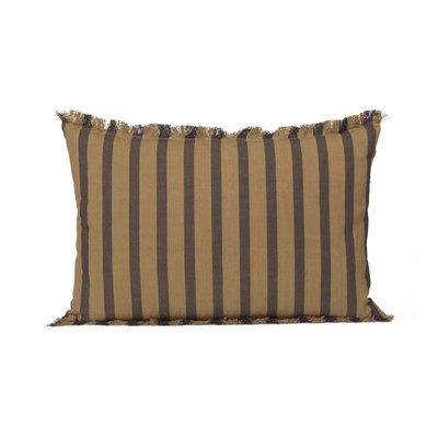 Ferm Living True Cushion - Sugar / Kelp Black