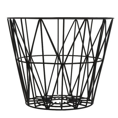 Ferm Living Wire Basket - Black - Large