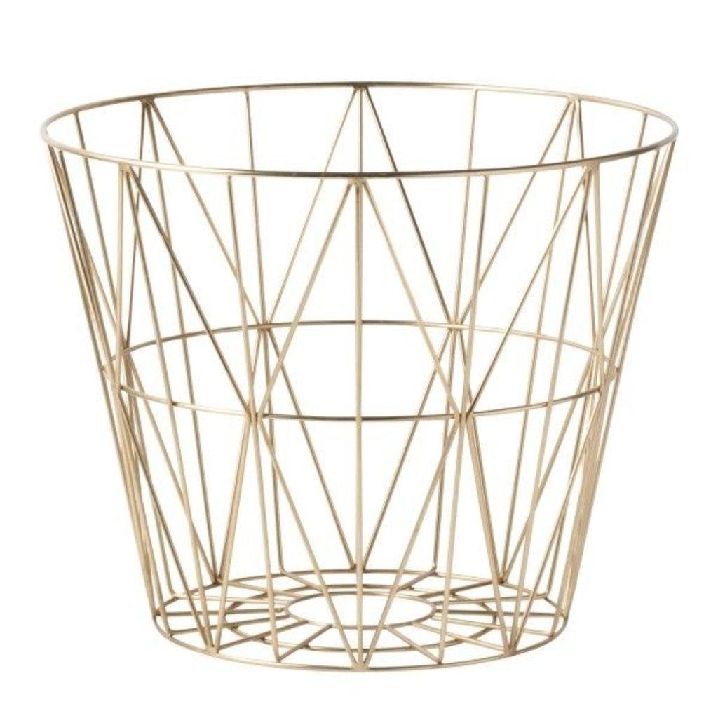 Ferm Living Wire Basket - Brass - Medium