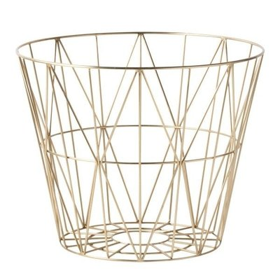 Ferm Living Wire Basket - Brass - Medium