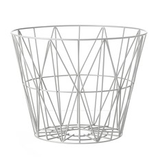 Ferm Living Wire Basket - Light Grey - Small