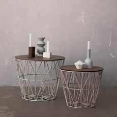 Ferm Living Wire Basket Top - Smoked Oak - Large
