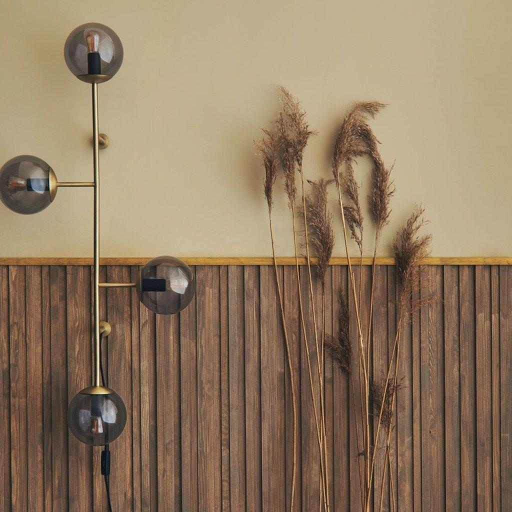 Bolia Orb wall lamp - Matt antique brass
