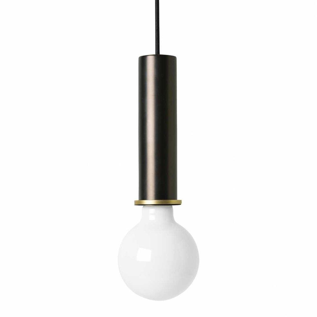 Ferm Living Socket Pendant - High - Black Brass