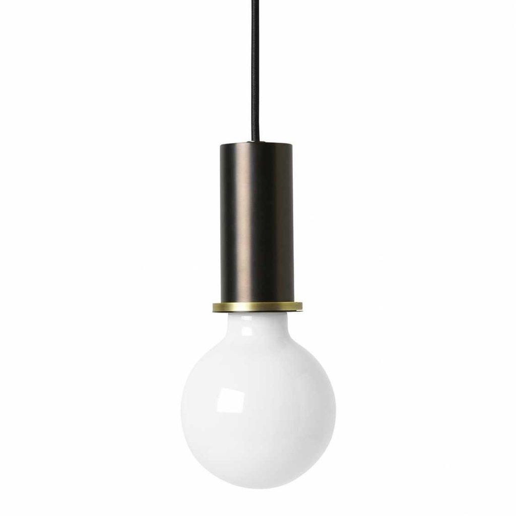 Ferm Living Socket Pendant - Low - Black Brass - SHOWROO MODEL