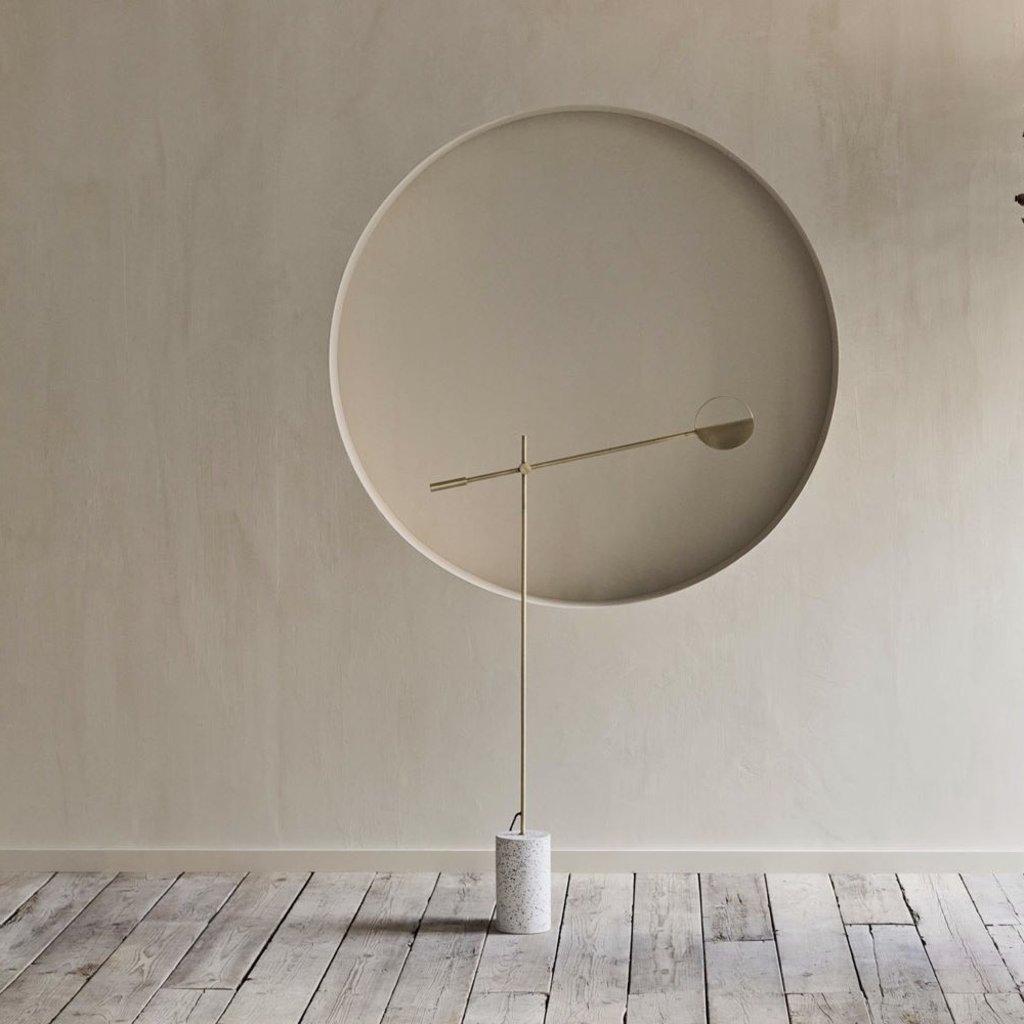 Bolia Leaves Floor lamp - Matt antique brass / White