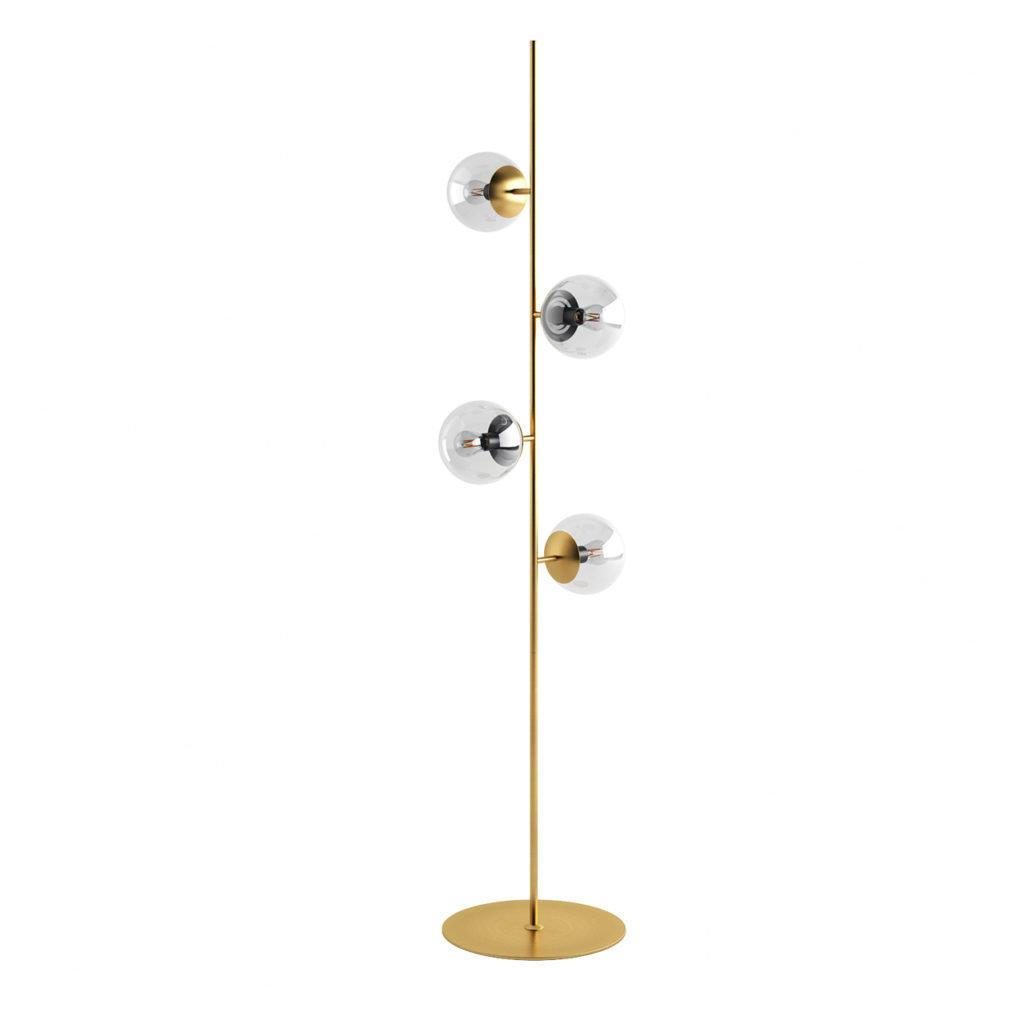 Bolia Orb floor lamp - Matt antique brass