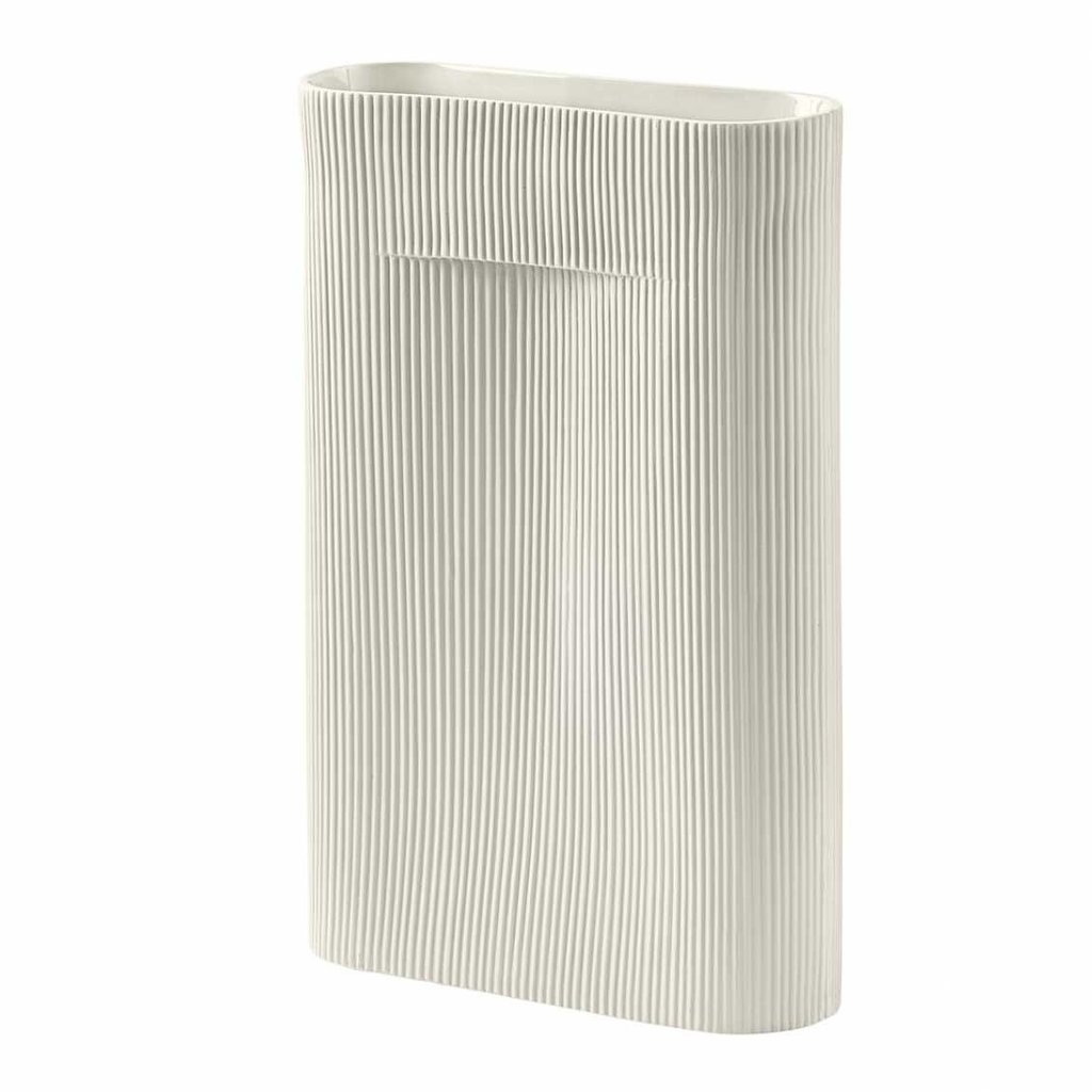 Muuto Ridge Vase - H35 - Off-White