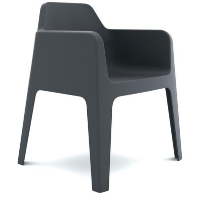 Pedrali Armchair PLUS, anthracite grey - SHOWROOM MODEL