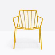 Pedrali Armchair NOLITA LOUNGE, yellow powder coated for outdoor (GI100) - SHOWROOM MODEL