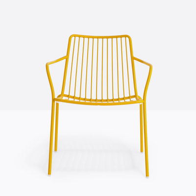 Pedrali Armchair NOLITA LOUNGE, yellow powder coated for outdoor (GI100) - SHOWROOM MODEL