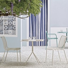 Pedrali Table base + top NOLITA, white powder coated for outdoor - SHOWROOM MODEL