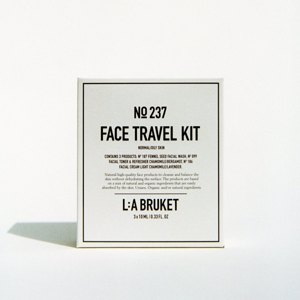 L:A Bruket Face Travel Kit Normal/Oily Skin 3 x