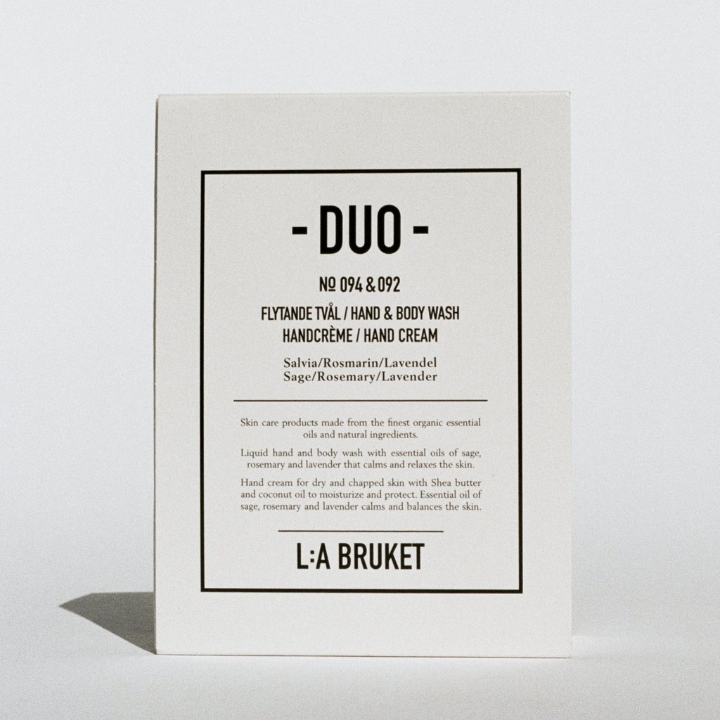 L:A Bruket Duo Kit 4 H&B Wash / Hand Cream SRL 2x200ml