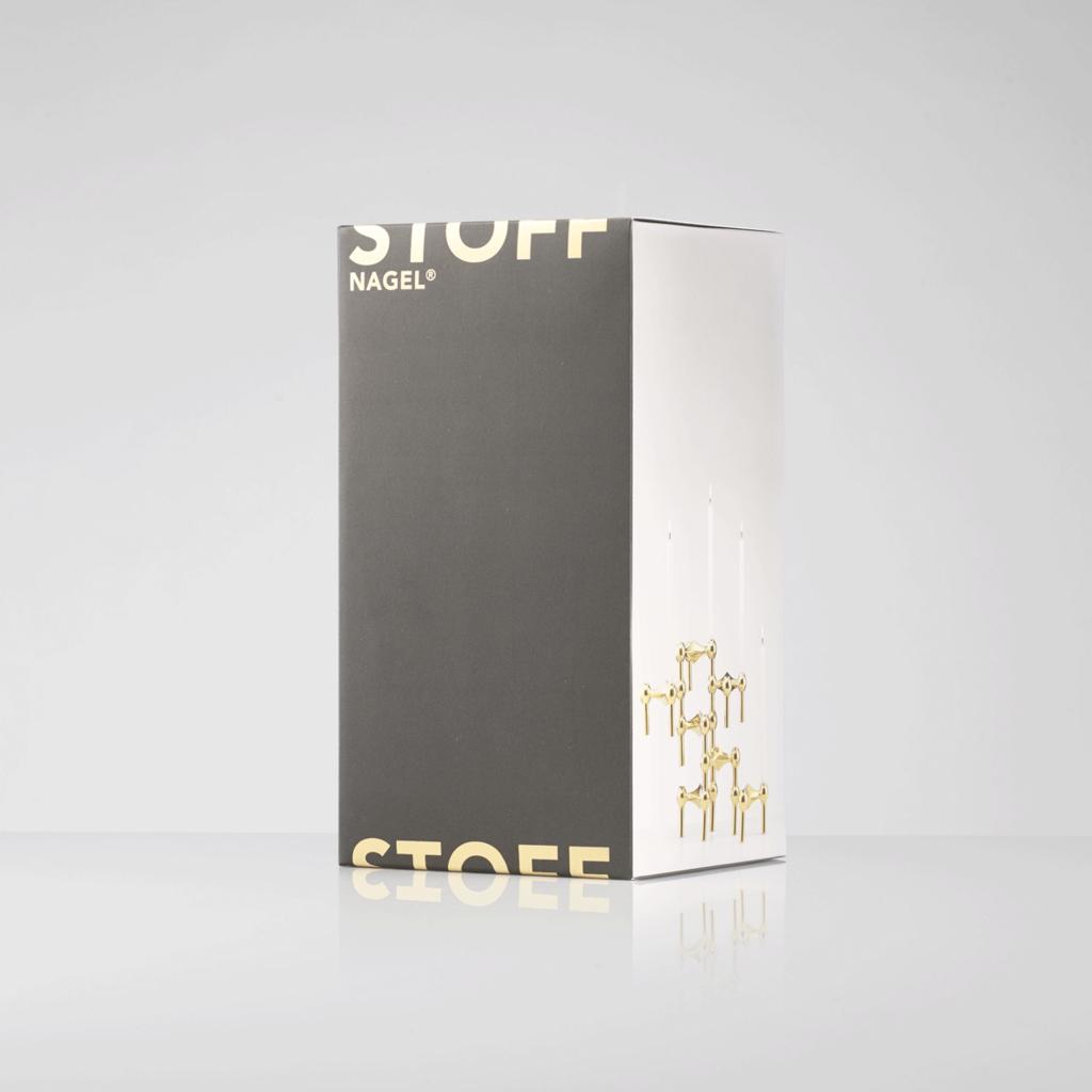 STOFF Nagel STOFF Nagel candle holder set with 3 pcs 6,5 x 10,2 BRASS