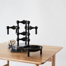STOFF Nagel STOFF Nagel candle holder set with 3 pcs 6,5 x 10,2 BLACK