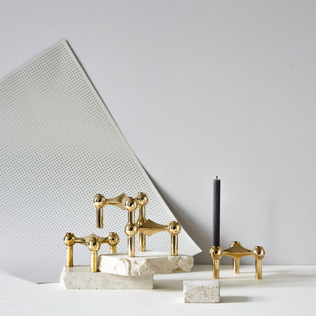STOFF Nagel STOFF Nagel candle holder 6,5 x 10,2 BRASS