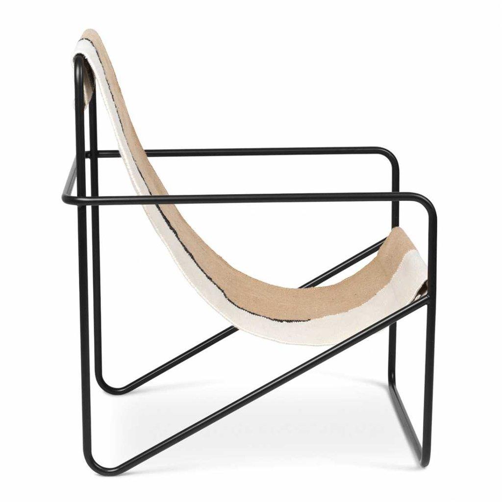 Ferm Living Desert Lounge Chair - Black/Soil