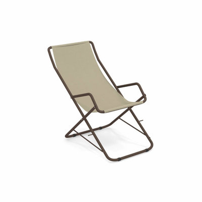 EMU 170 BAHAMA DECK CHAIR ANTIQUE IRON/BEIGE