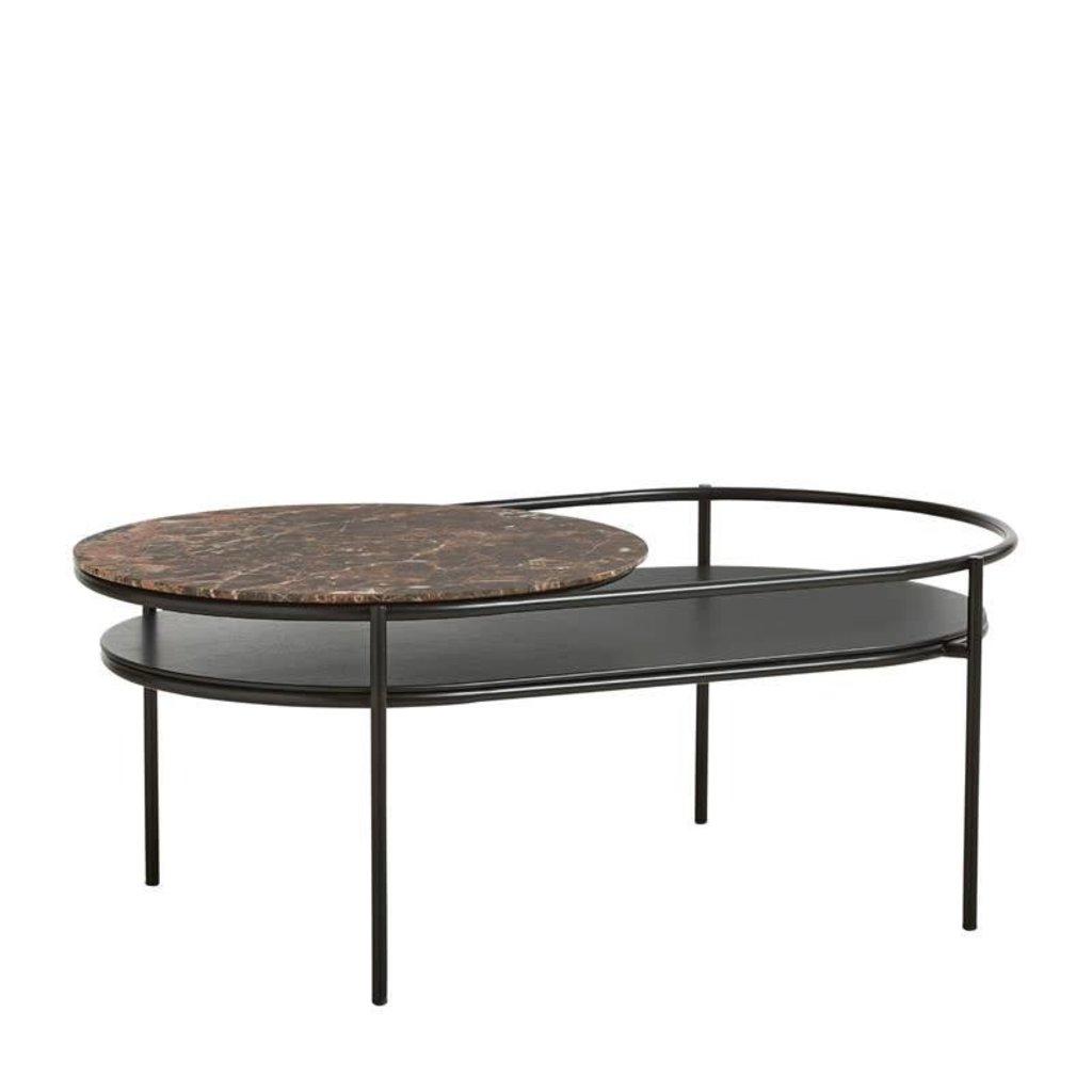 WOUD Verde table, Brown marble top - SHOWROOM MODEL