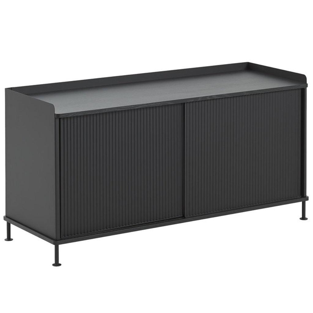 Muuto Enfold Sideboard - Low - Black/Black