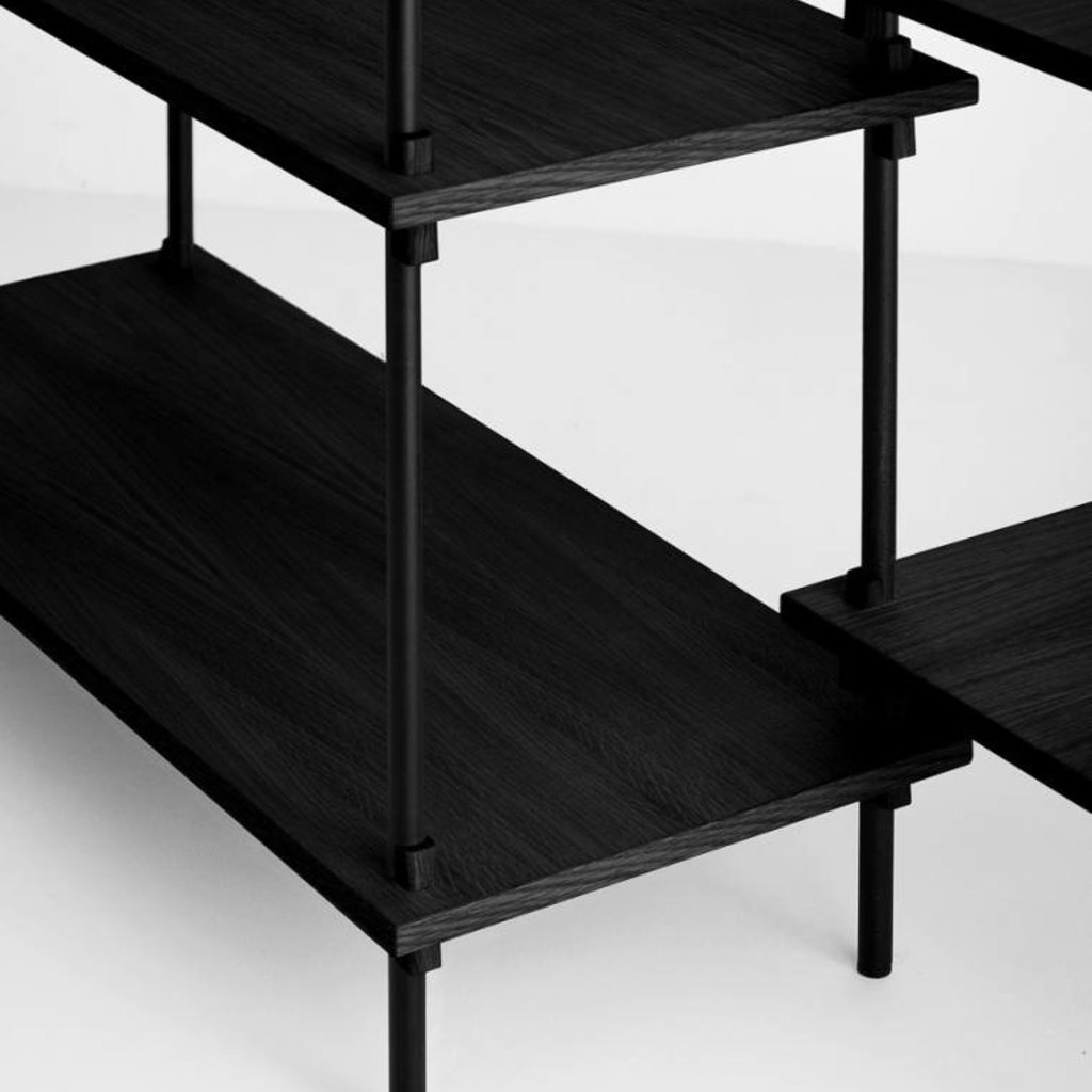 Moebe Shelving System Low double, black