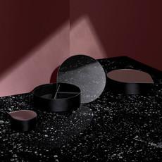 AYTM GUTTA jewelry box L black
