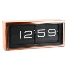 LEFF amsterdam Wall/desk clock brick  | copper 24h | black