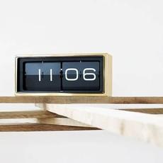 LEFF amsterdam Wall/desk clock brick | brass | 24h black