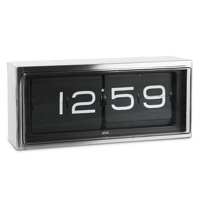 LEFF amsterdam Wall/desk clock brick | stainless steel | 24h black