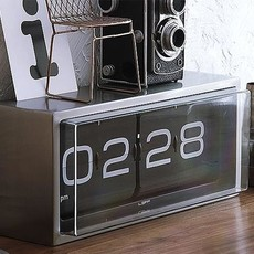 LEFF amsterdam Wall/desk clock brick | stainless steel | 24h black