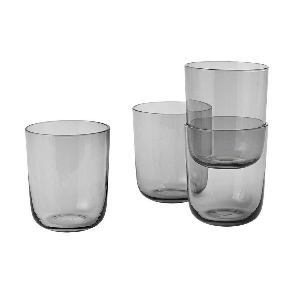 Muuto Corky - Drinking glasses - Tall - Grey (set of 4)