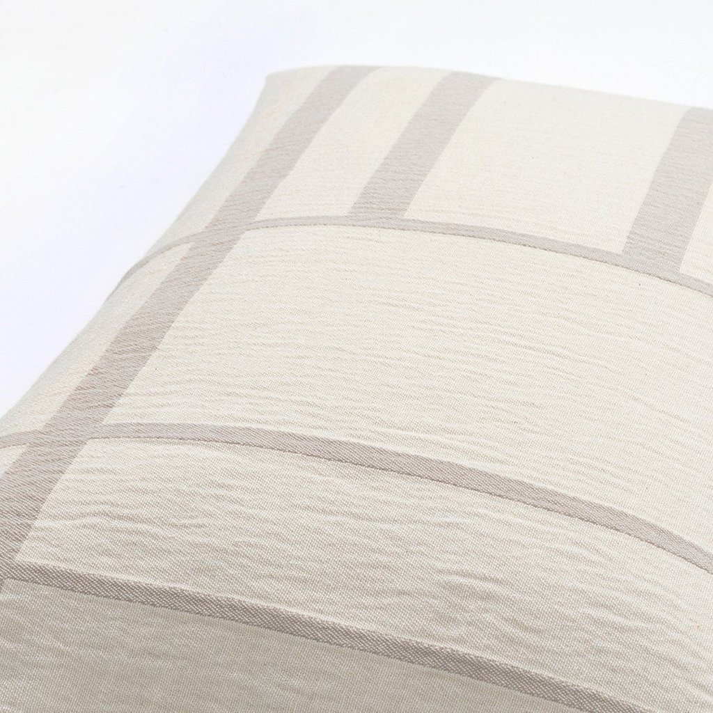 Kristina Dam Architecture Cushion - Cotton - Off White/Beige Melange