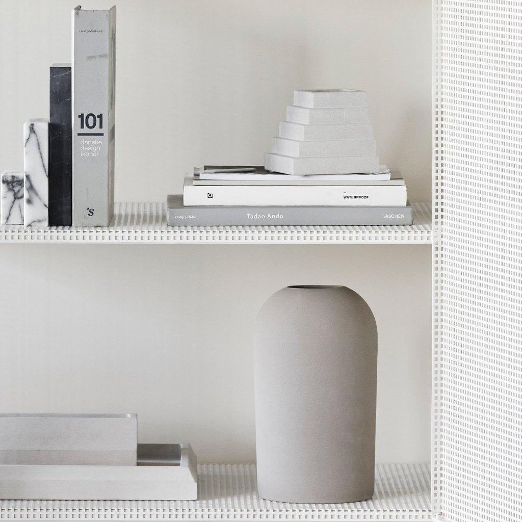 Kristina Dam Sandstone Desk Organizer - Light grey