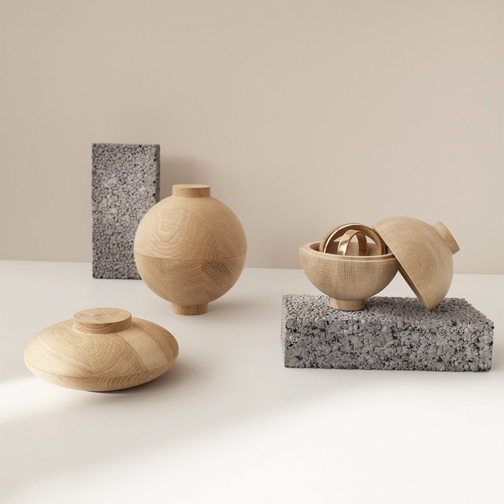 Kristina Dam Wooden Sphere XL  - Solid Oak