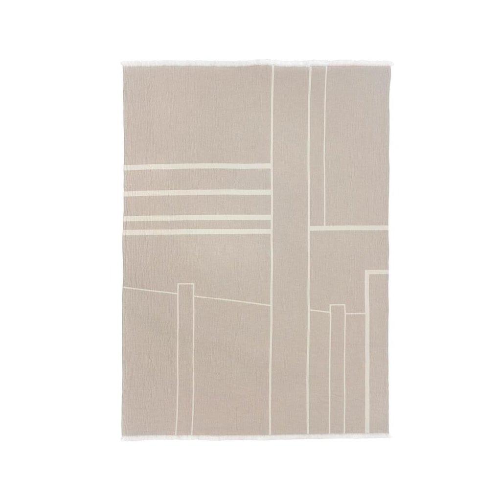 Kristina Dam Architecture Throw - Cotton - Off White/Beige Melange