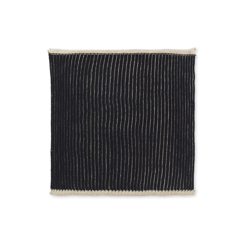 Ferm Living Twofold Organic Cloth - Set of 2 (Sand/Black)