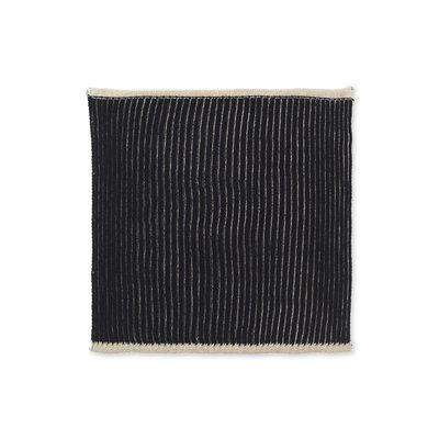 Ferm Living Twofold Organic Cloth - Set of 2 (Sand/Black)
