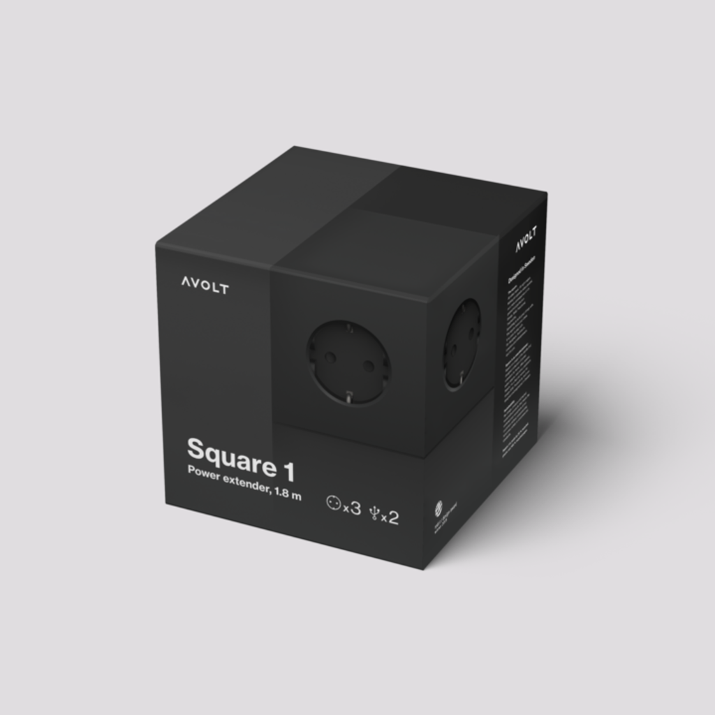 AVOLT Square 1 USB Magnet Version Stockholm Black