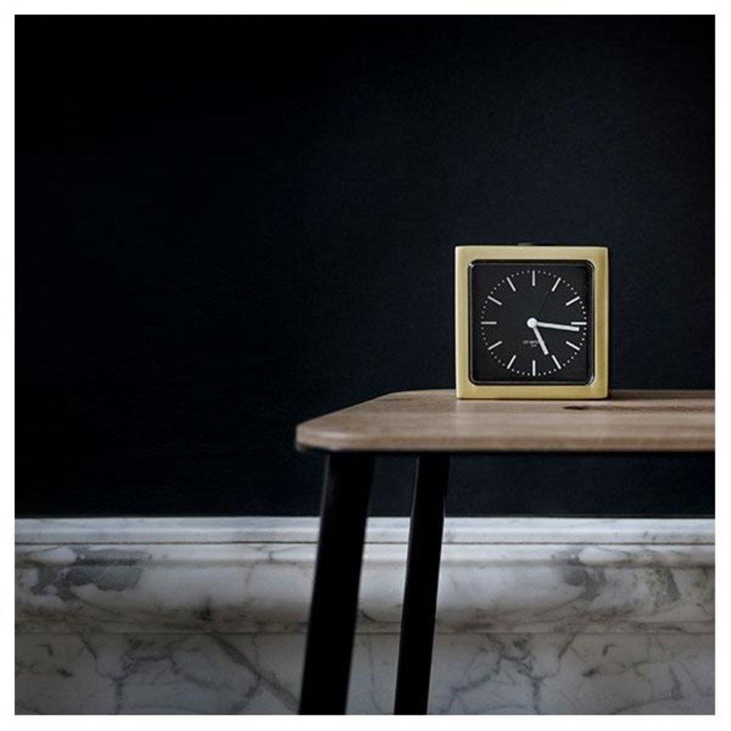 LEFF amsterdam Alarm clock block | brass | black index