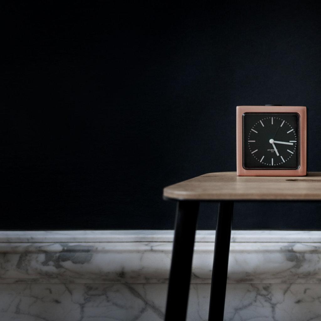 LEFF amsterdam Alarm clock block | copper | black index