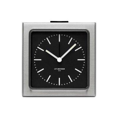 LEFF amsterdam Alarm clock block | stainless steel | black index