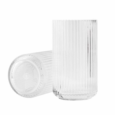 Lyngby Porcelæn Lyngbyvase H20,5 clear mouth blown glass