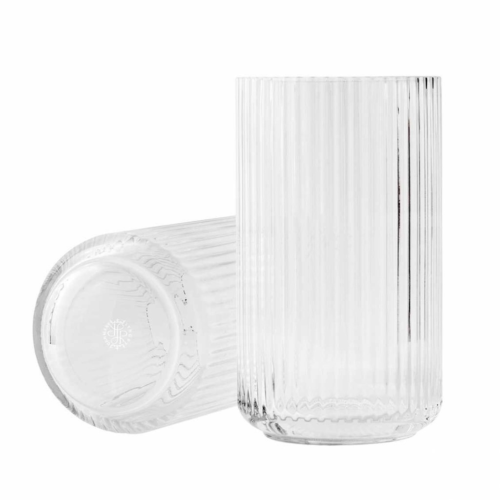 Lyngby Porcelæn Lyngbyvase H25 clear mouth blown glass